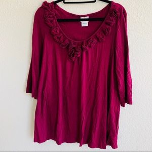 3/25 Mother hood oh baby red top blouse size L